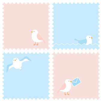 海鷗郵票框架設置1