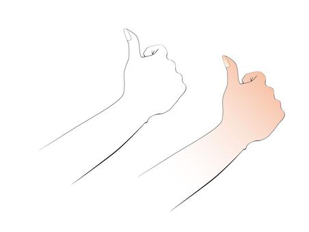 Hand line drawing goo