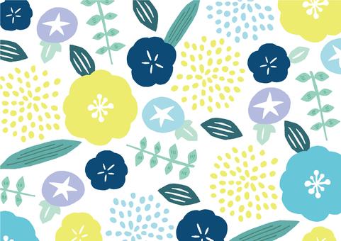 夏季花卉紡織