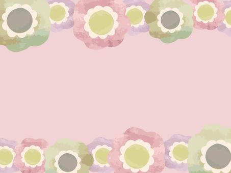 수채화 바람꽃 프레임