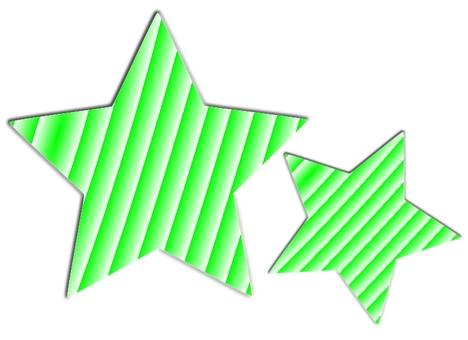 Striped green stars