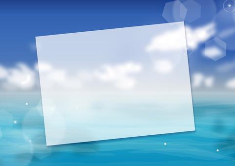 Hot summertime postcard sea