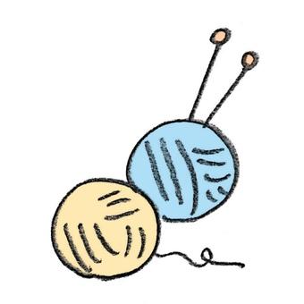 毛線球和鉛筆