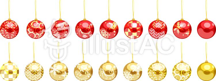 クリスマスツリーオーナメントイラスト No 263016無料イラストなら