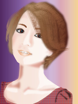 Short hair woman 03
