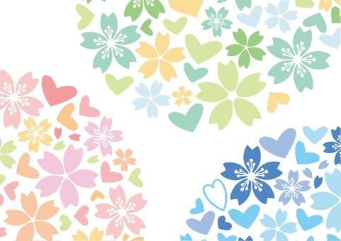 하트와 벚꽃 편지지