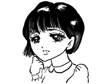 Girl cartoon girl