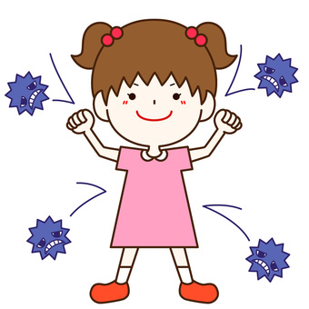 A girl who can not defeat a cold