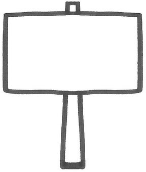 Signboard Platcard signboard