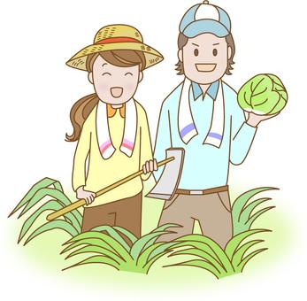 농업을하는 부부