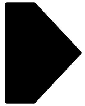 矢印 カーソル 黒07
