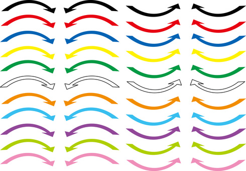 Arrow Icon Curve Wave Background Wallpaper Colorful