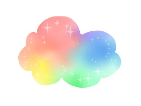 Rainbow color cloud