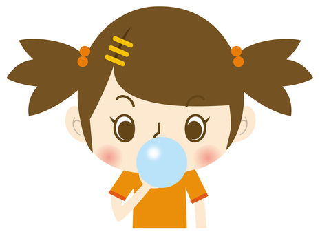 Soap bubble girl