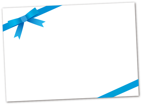 Message card <Blue Ribbon>