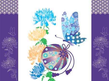 Mari and chrysanthemum _ blue