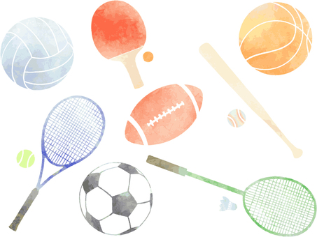Sport watercolor icon