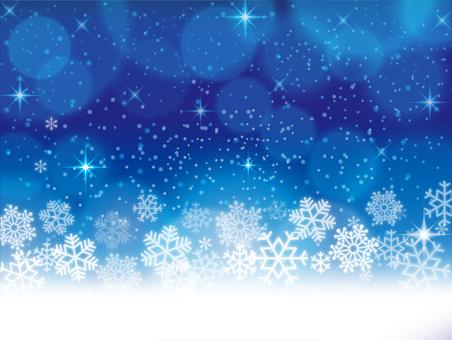 Snowflakes blue background 03