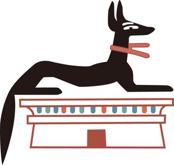 Egyptian illustration dog Anubis-2