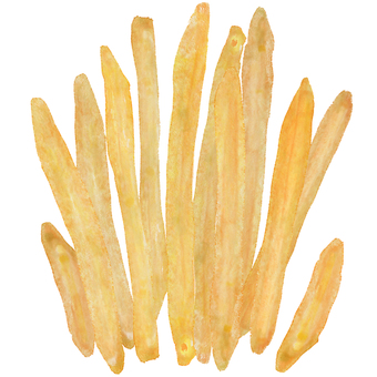 French fries 2 watercolor