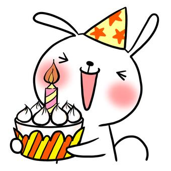 Birthday birthday cake rabbit