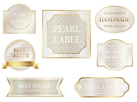 Pearl color label set