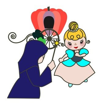 Cinderella taking magic