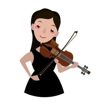 Violinist, Waist Up, Women