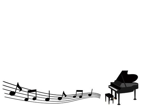 Piano decorative frame