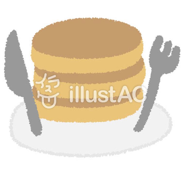 パンケーキ(食器)のイラスト