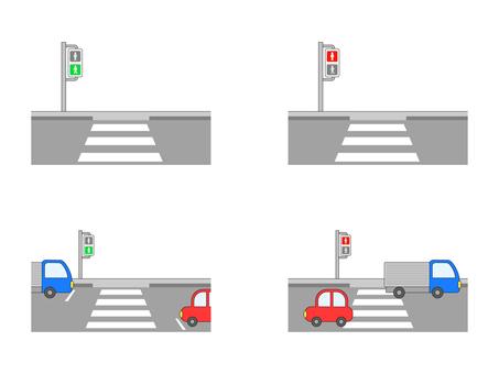 Pedestrian crossing set
