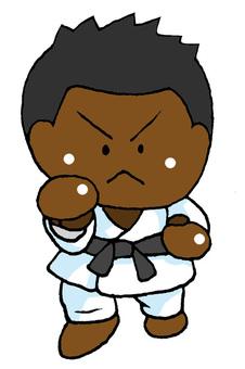 Karate black man