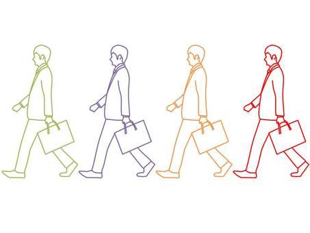 Walking businessman 2