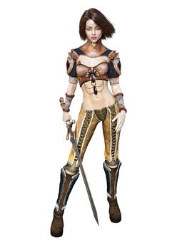 剣を持つ女性戦士