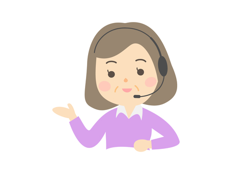 Female telephone operator _ 60s _ upper body