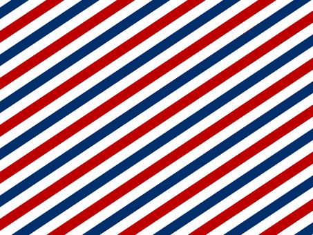 Tricolor diagonal stripe