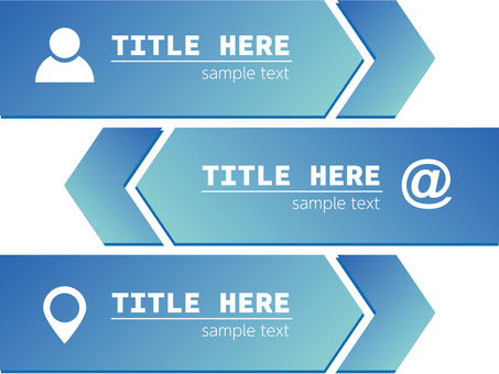 Business banner arrow icon blue