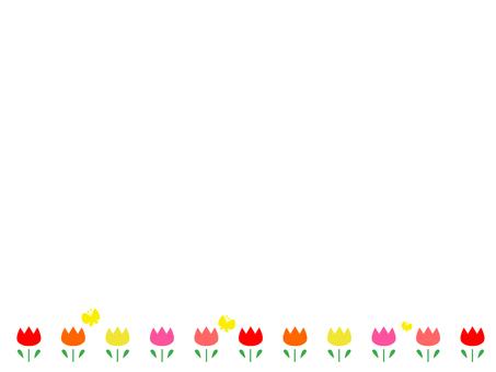 Simple tulip decorative frame