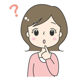 Cute Female / Hatena / Question / Question / Worrying