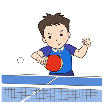 Men who play table tennis