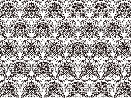 Damask of rose pattern