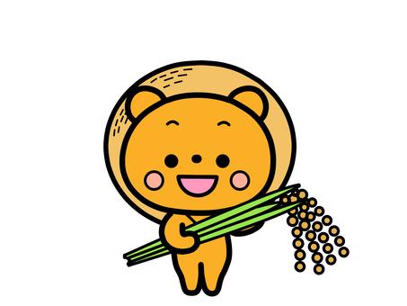 Rice harvesting bear