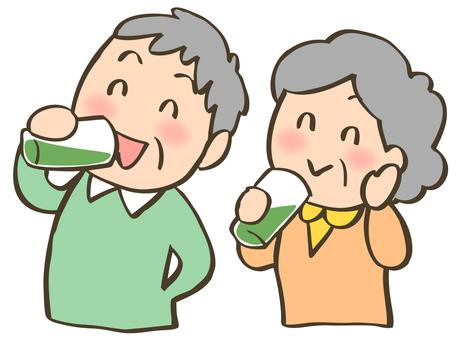 노인 남녀 _ 음료