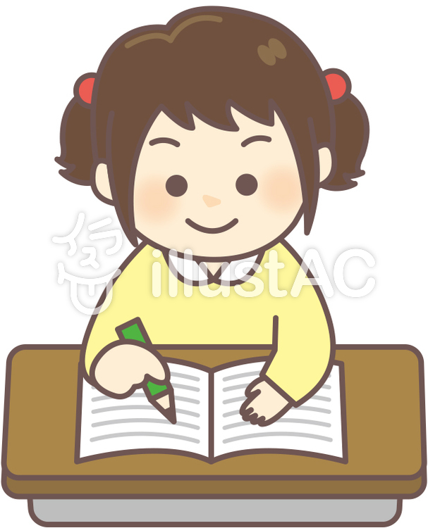 女の子教室ノートに書くイラスト No 972028無料イラストなら