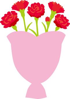 Carnation bouquet No letters