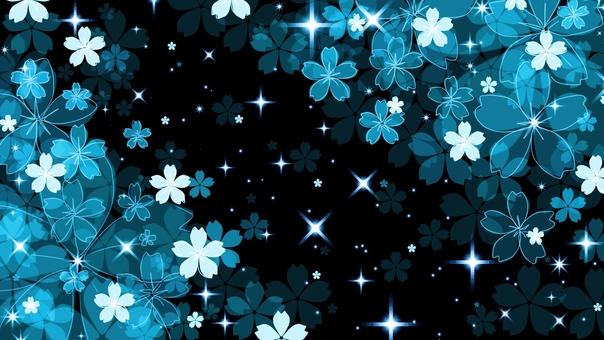 Light up style night cherry blossoms (light blue)