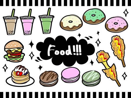 Trendy food illustration