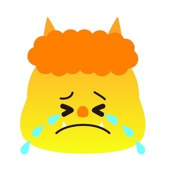 Crying yellow demon