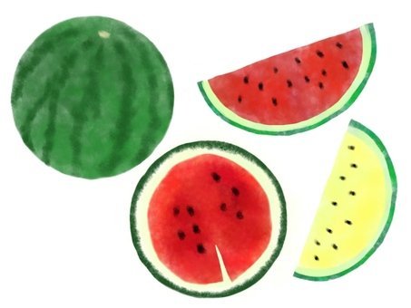 Watermelon set (without black frame / watercolor)