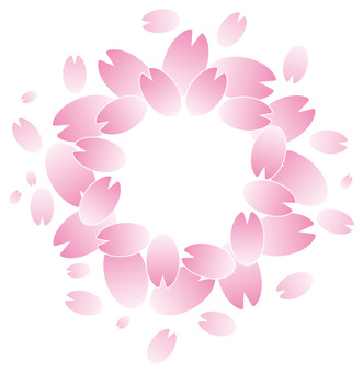 Cherry blossom petal one point frame